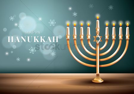 Classic : Happy hanukkah greeting