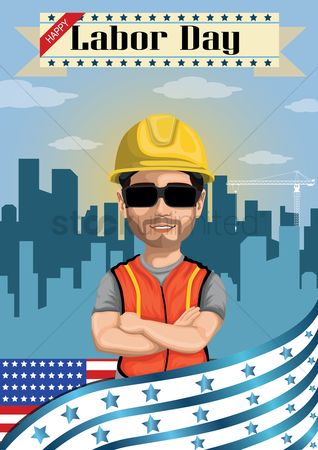 Builder : Happy labor day poster