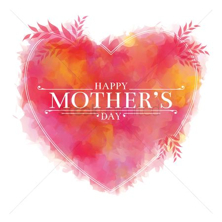 Heart shape : Happy mothers day card