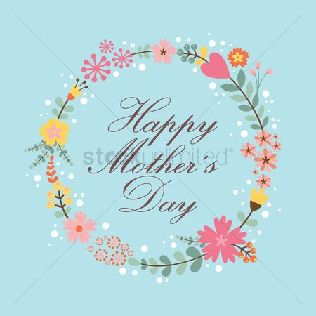 Mothers day : Happy mothers day greeting design