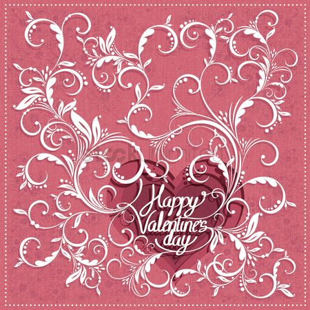 Heart : Happy valentine s day design