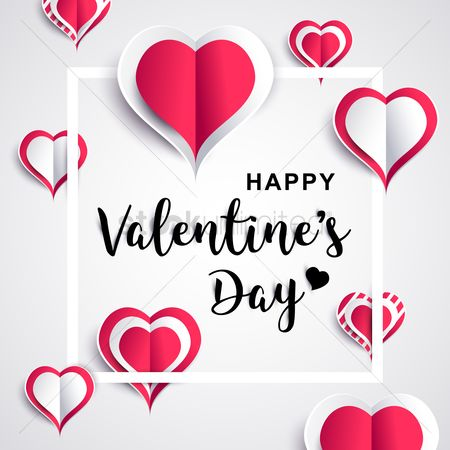 Heart shape : Happy valentines day greeting