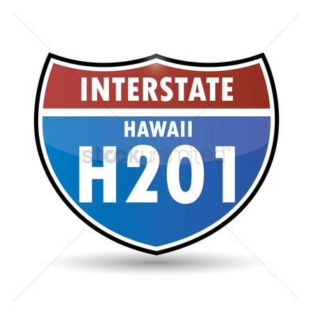 Interstates : Hawaii route sign