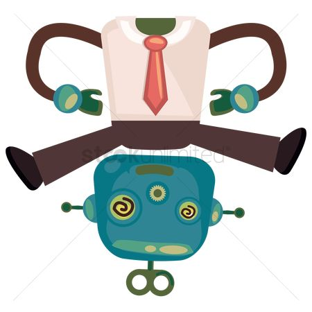 Mechanicals : Headless robot businessman