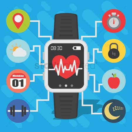 Wristwatch : Health and fitness smart watch concept