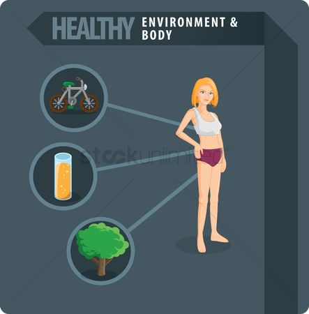 Health cares : Healthy body concept