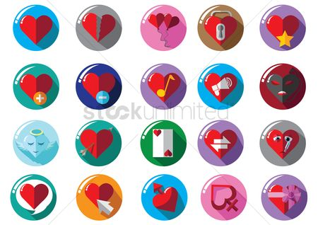 Love speech bubble : Heart icon collection