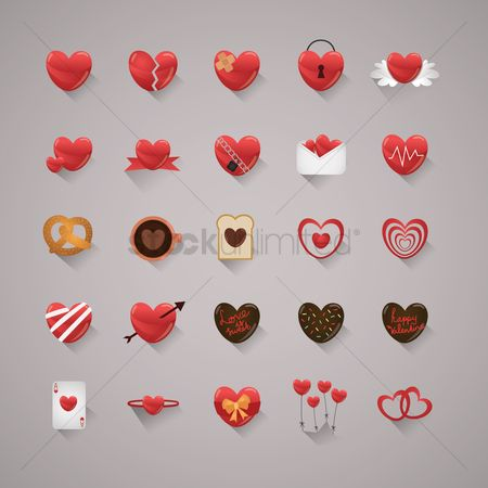 Love : Heart icons
