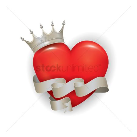 Royal : Heart with a crown