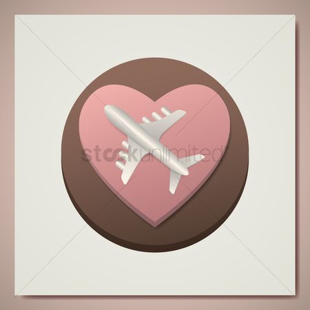 Airway : Heart with aeroplane