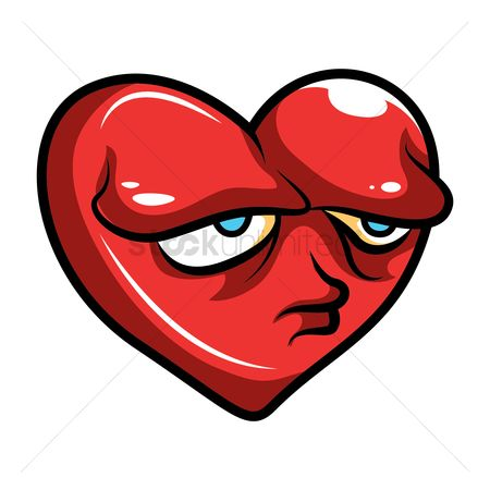 Valentines day : Heart with sad face