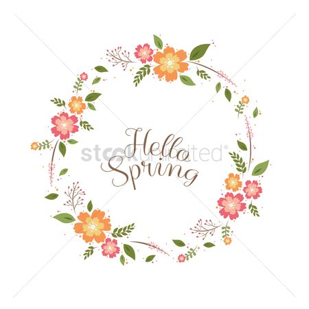 Spring : Hello spring card design