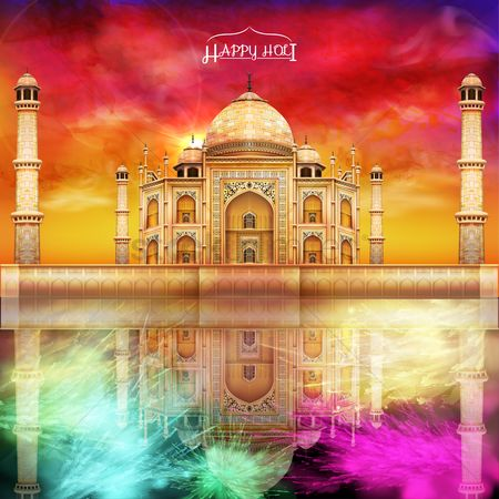 Traditions : Holi festival background design
