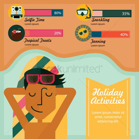 Airplane : Holiday activities infographic