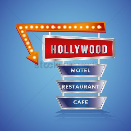 Cafe : Hollywood sign