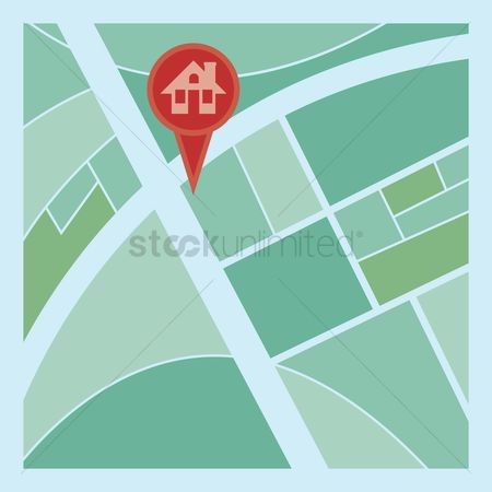 Location pointer : Home and location pointer