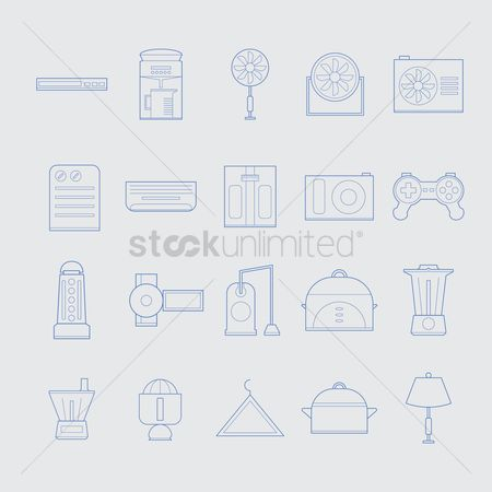 Handy : Home appliance icons