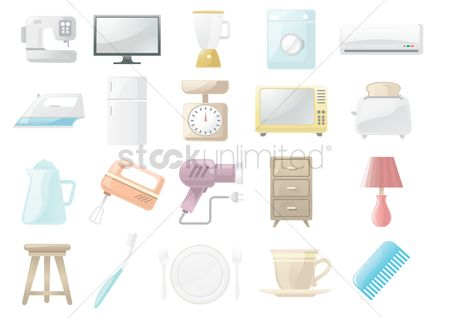 Plates : Home appliances and objects