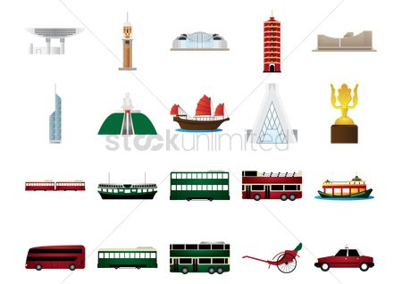 Taxis : Hong kong icons set