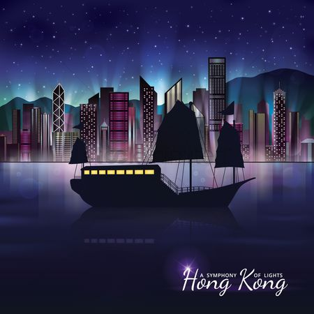 Skyscraper : Hong kong night