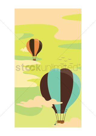 Gases : Hot air balloon flying