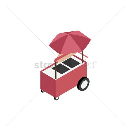 Food cart : Hot dog cart