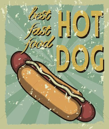 Old fashioned : Hot dog poster