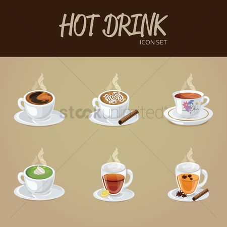 Drinking : Hot drink icon set