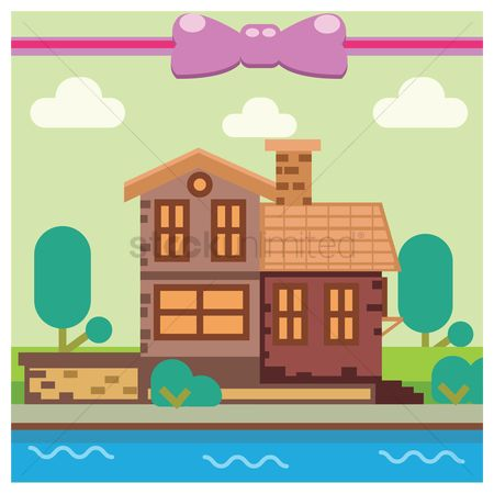 Cottage : House background