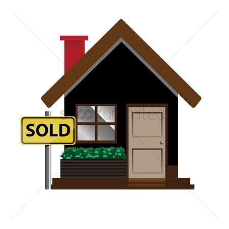 Business deal : House with sold board