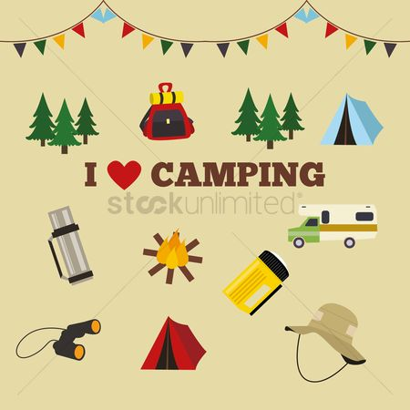 Tents : I love camping poster