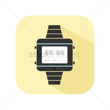 Minute : Icon of a digital watch