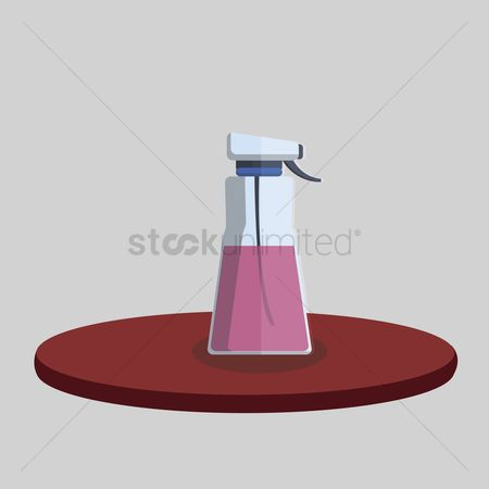 Chores : Illustration of a spray bottle