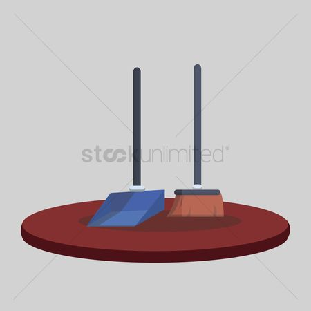 Chores : Illustration of broom and dustpan