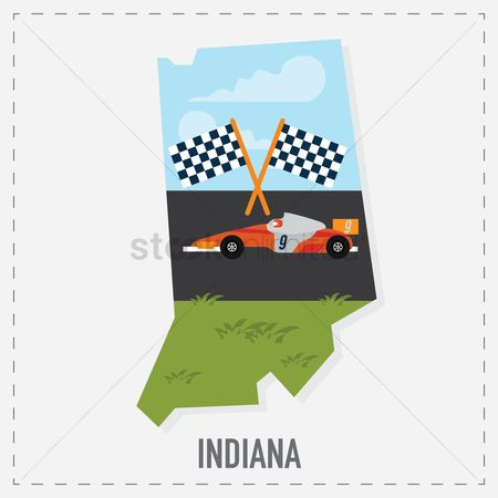 Indiana : Indiana map sticker