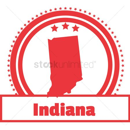 Indiana : Indiana state map label