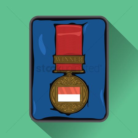 Challenges : Indonesia flag on medal
