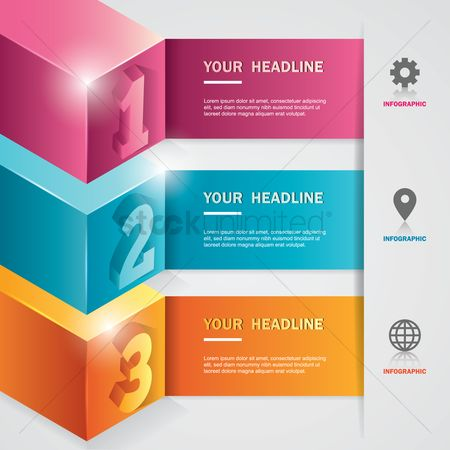 Location pointer : Infographic design elements