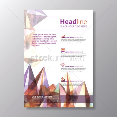 Faceted : Infographic headline poster