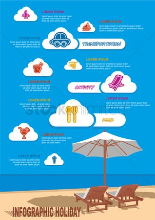 Aeroplanes : Infographic holiday