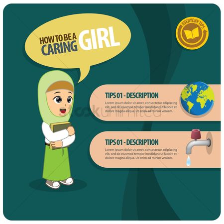 Tips : Infographic of a caring girl