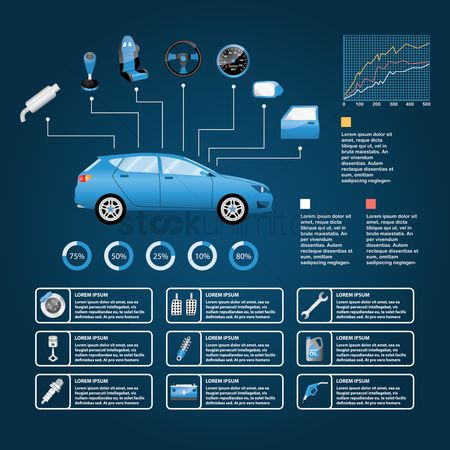 Car speedometer : Infographic of car