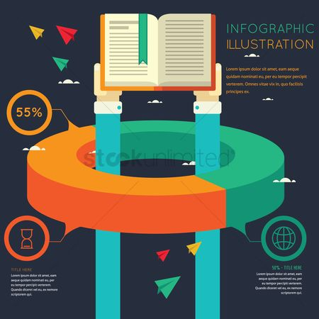 Vectors : Infographic of education
