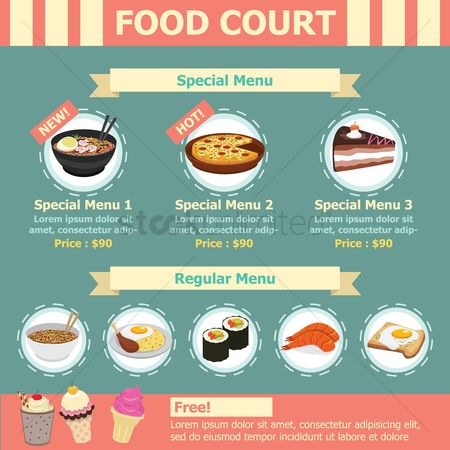 Sweet foods : Infographic of food court
