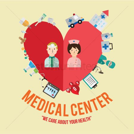 Health cares : Infographic of medical center