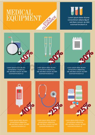 Wheelchair : Infographic of medical equipment