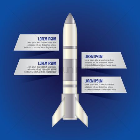 Spaceship : Infographic of rocket