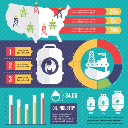 Petroleum : Infographic representation of oil and gas