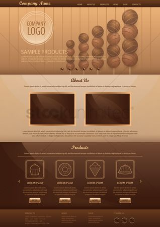 Chocolates : Infographic template design