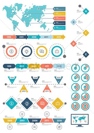 Graphic : Infographic template design